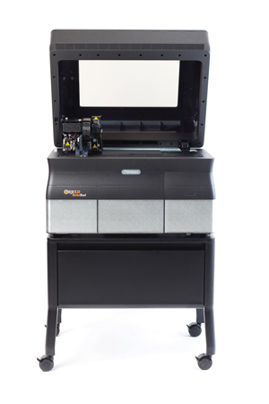 The Stratasys Objet30 Orthodesk model is powered by PolyJet technology and weighs only 205 pounds.