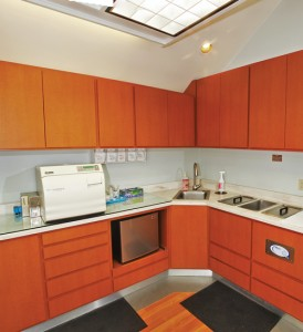 All office cabinetry was completed prior to the start of demolition to ensure the redesign was completed in 10 to 12 days.